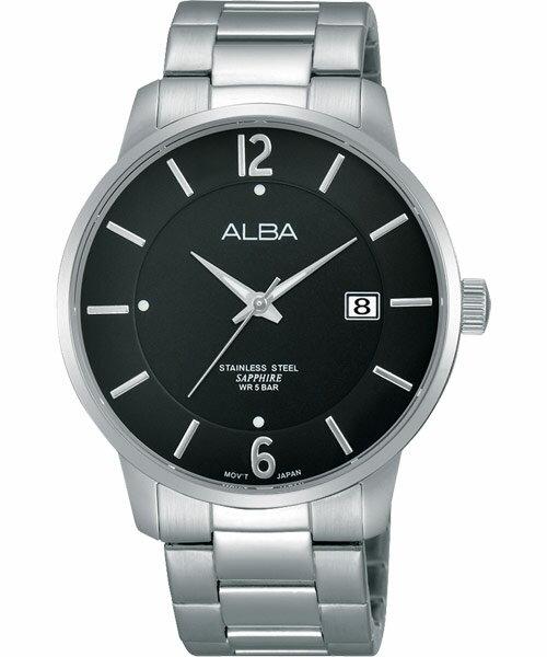 ALBA VJ42-X160D(AS9A37X1)日系時尚簡約腕錶/黑面40mm