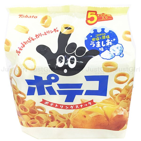 日本 Tohato 餅乾 手指圈圈餅 手指餅乾 5袋入 日本製造進口 * JustGirl *