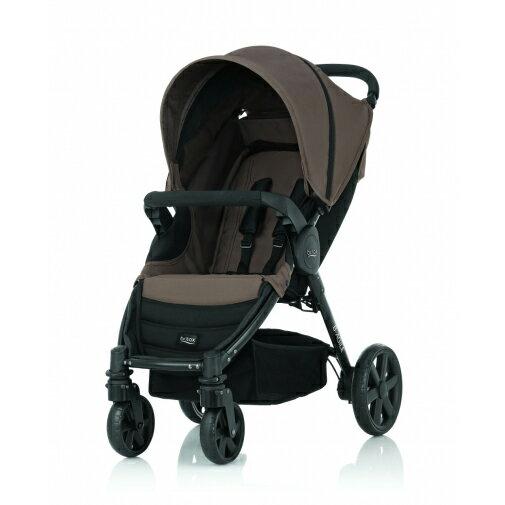 Britax - B-Agile單手收豪華四輪手推車 -咖啡 (附前扶手) 加購Britax - Baby-Safe提籃享特價優惠!