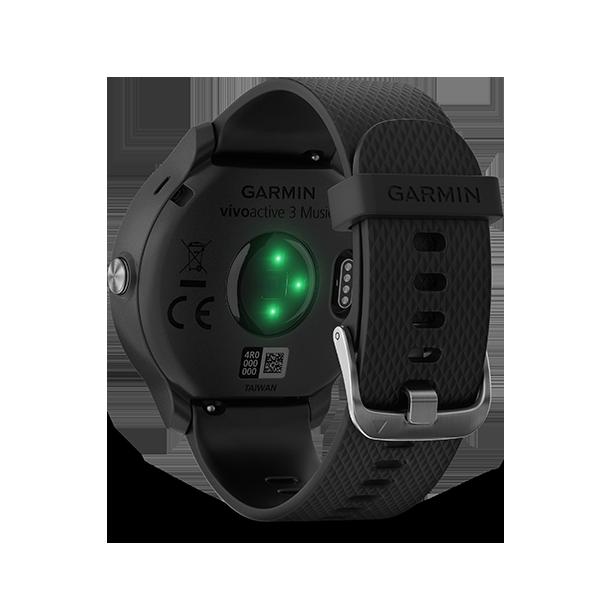 (領卷享折扣)【免運】【H.Y SPORT】Garmin vivoactive 3 Music GPS音樂智慧腕錶 花崗岩藍 / 黑色 『加贈日本sasaki運動毛巾』 7