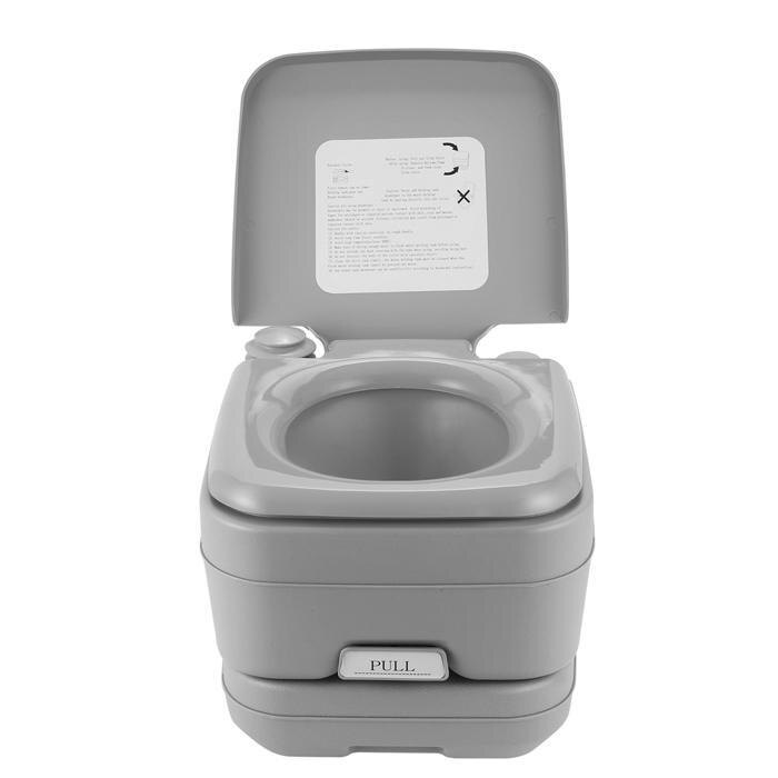 2.8 Gallon 10L Portable Toilet Travel Camping Outdoor/Indoor Toilet Potty Flush 0