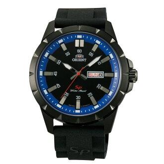 Orient 東方錶(FUG1X008B)運動風石英腕錶/黑面43mm