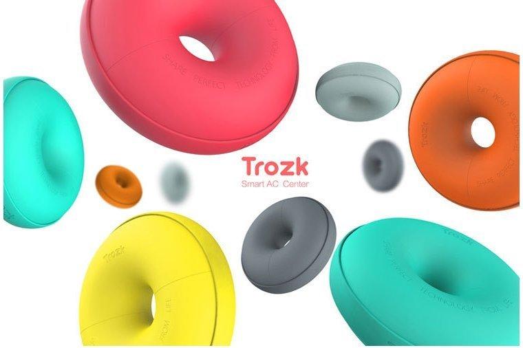 【保固一年 】特洛克/TROZK 甜甜圈 智能移動插座 旅行 多功能 USB 充電器 插座排旅行 創意 插排 綠色
