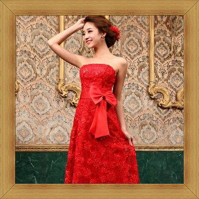 婚紗 結婚禮服-典雅氣質浪漫新娘伴娘晚宴服53b10【英國進口】【米蘭精品】