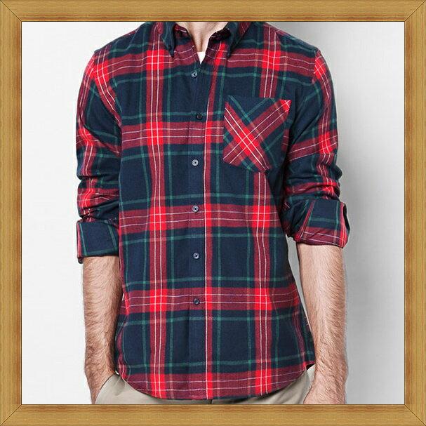 襯衫 長袖上衣-修身休閒帥氣純棉男襯衫24色53c15【日本進口】【米蘭精品】