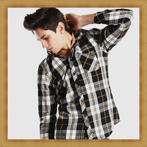 襯衫 長袖上衣-修身休閒帥氣純棉男襯衫27色53c20【日本進口】【米蘭精品】