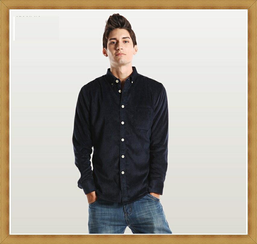 襯衫 長袖上衣-修身休閒帥氣純棉男襯衫24色53c6【日本進口】【米蘭精品】