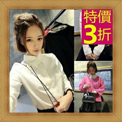 ☆襯衫  OL長袖制服-修身休閒俏麗時尚女上衣53d64【韓國進口】【米蘭精品】