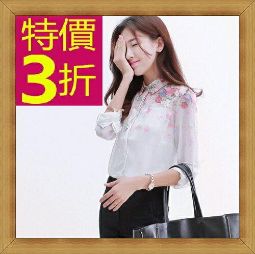 ☆襯衫  OL長袖制服-修身休閒俏麗時尚女上衣53d68【韓國進口】【米蘭精品】