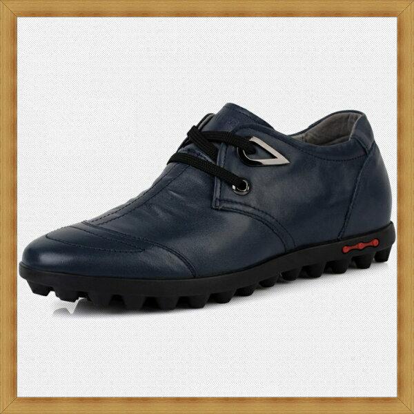 ☆增高鞋休閒鞋-隱形增高造型時尚真皮男皮鞋3色53e20【韓國進口】【米蘭精品】