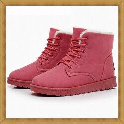 ☆雪靴 女鞋子-時尚蓬鬆保暖皮革女短靴5色53f20【澳洲進口】【米蘭精品】