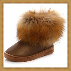 ☆雪靴 女鞋子-時尚蓬鬆保暖皮革女短靴7色53f24【澳洲進口】【米蘭精品】