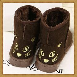 ☆雪靴 女鞋子-時尚蓬鬆保暖皮革女短靴5色53f4【澳洲進口】【米蘭精品】