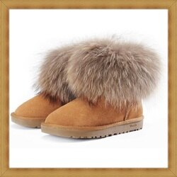 ☆雪靴 女鞋子-時尚蓬鬆保暖皮革女短靴4色53f53【澳洲進口】【米蘭精品】
