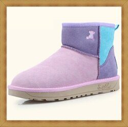 ☆雪靴 女鞋子-時尚蓬鬆保暖皮革女短靴2色53f54【澳洲進口】【米蘭精品】