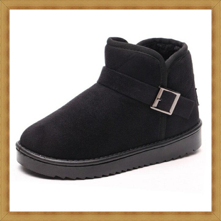★雪靴 女鞋子-時尚蓬鬆保暖皮革女短靴3色53f7【澳洲進口】【米蘭精品】 1