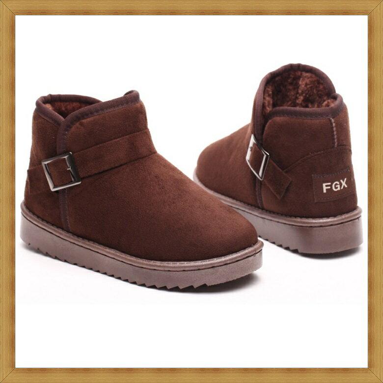 ★雪靴 女鞋子-時尚蓬鬆保暖皮革女短靴3色53f7【澳洲進口】【米蘭精品】 0