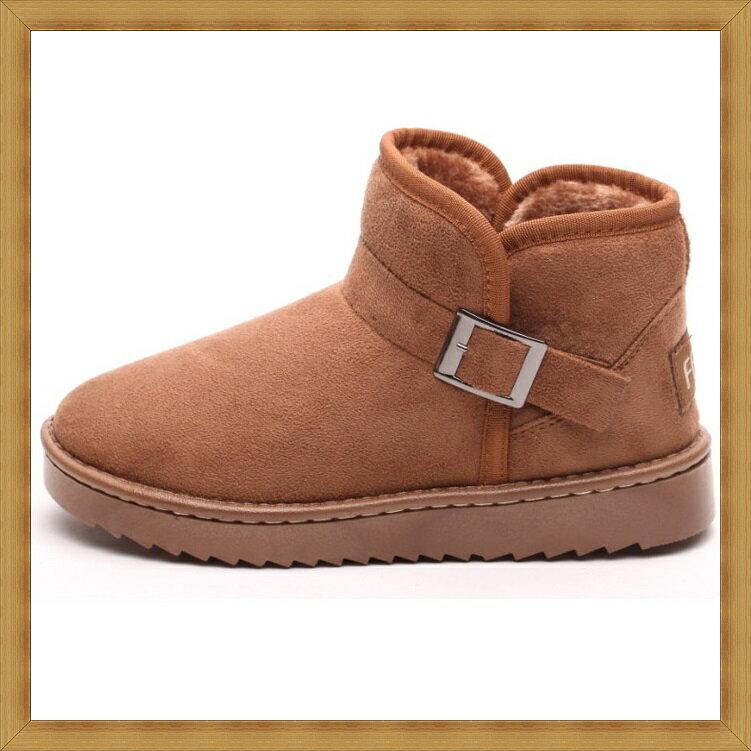 ★雪靴 女鞋子-時尚蓬鬆保暖皮革女短靴3色53f7【澳洲進口】【米蘭精品】 2