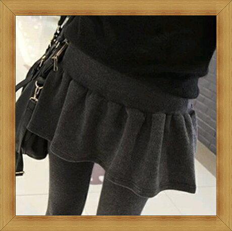 內搭褲 緊身褲-彈力伸縮保暖刷毛加絨瘦修腿女長褲3色53h10【韓國進口】【米蘭精品】