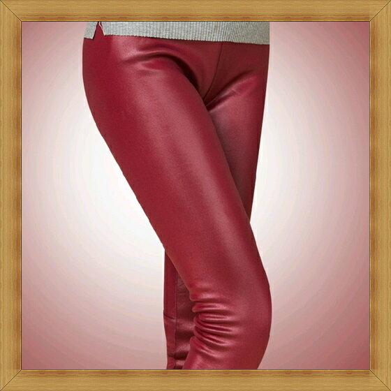 ~內搭褲 緊身褲~彈力伸縮保暖刷毛加絨瘦修腿女長褲6色53h29~韓國 ~~米蘭 ~