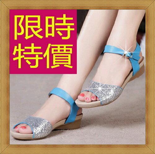 ~涼鞋 休閒鞋~氣質 低跟女鞋子2色53l101~韓國 ~~米蘭 ~