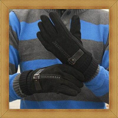 皮手套 男手套 -秋冬溫暖防寒時尚皮革男配件3色53m12【義大利進口】【米蘭精品】