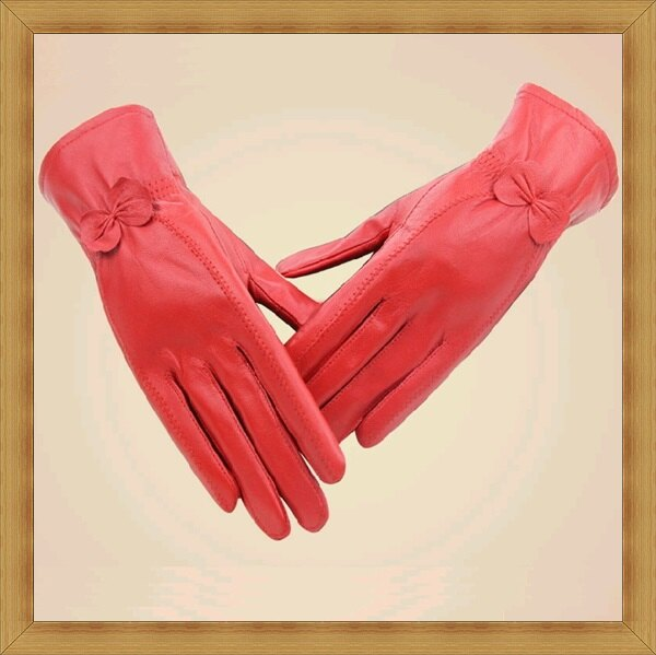 <br/><br/>  ☆女手套女配件-保暖秋冬防寒時尚女皮革手套4色53m25【義大利進口】【米蘭精品】<br/><br/>