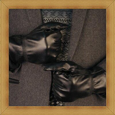觸控手套 真皮手套-秋冬防寒時尚男配件2色53m5【義大利進口】【米蘭精品】