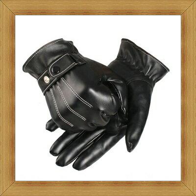 皮手套 男手套 -秋冬溫暖防寒時尚皮革男配件53m14【義大利進口】【米蘭精品】