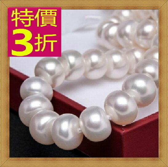 珍珠項鍊 女珠寶飾品-單顆9-10mm七夕情人節母親節生日禮物精美奢華首飾53pe2【法國進口】【米蘭精品】