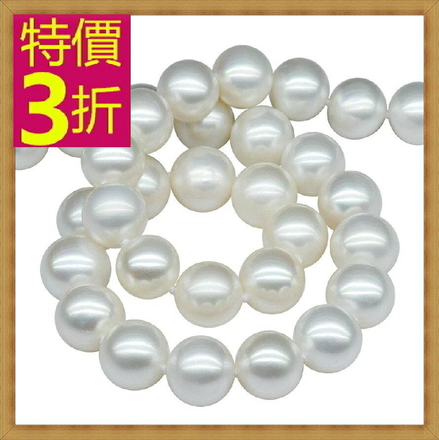 珍珠項鍊 女珠寶飾品-單顆9-10mm七夕情人節母親節生日禮物精美奢華首飾53pe22【法國進口】【米蘭精品】