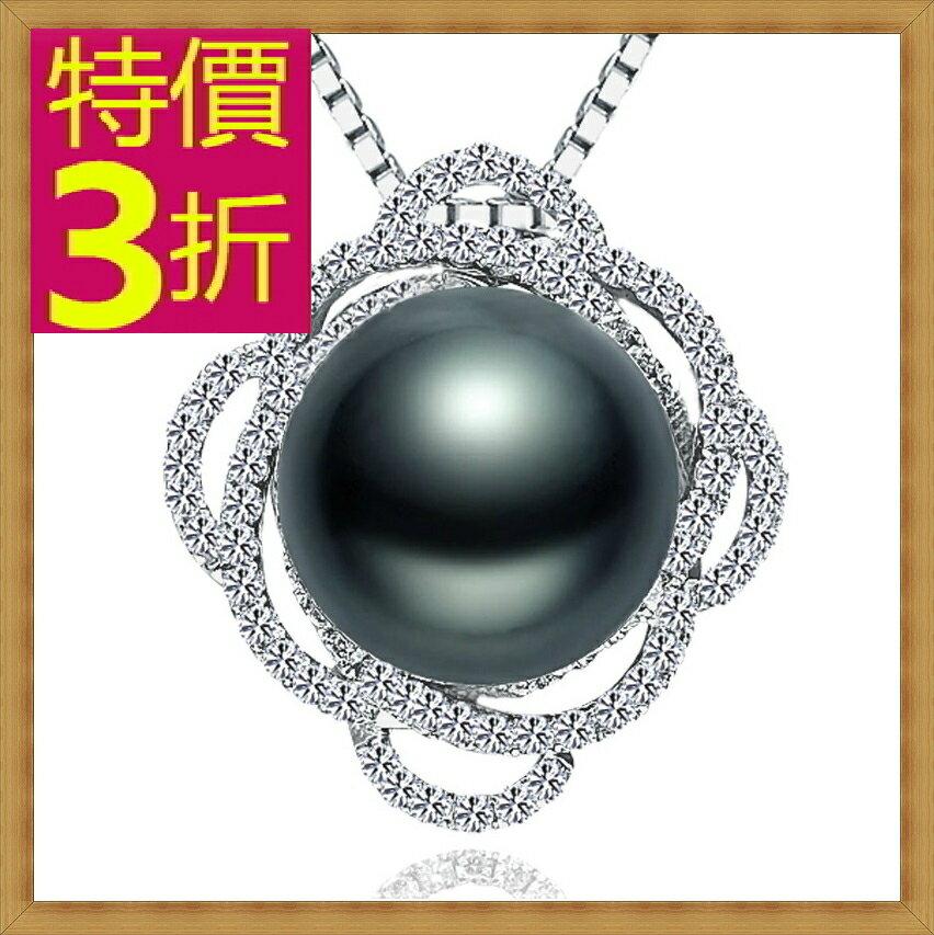 珍珠項鍊 女珠寶飾品-單顆12.5mm七夕情人節母親節生日禮物精美奢華首飾53pe24【法國進口】【米蘭精品】