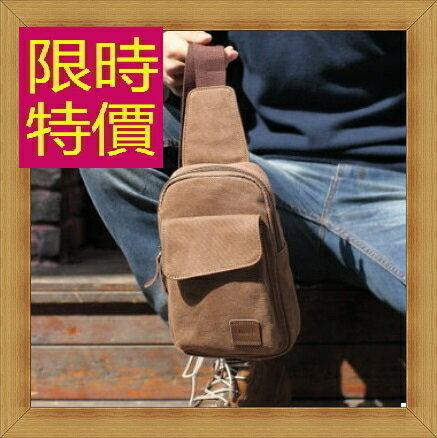 帆布包 胸包-百搭個性休閒男側背包3色54f1【日本進口】【米蘭精品】