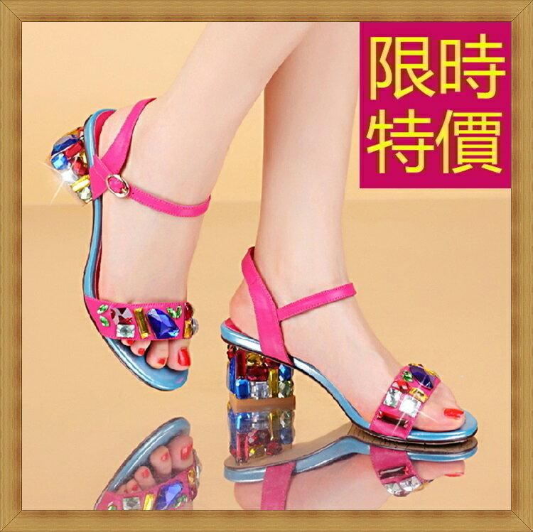 ☆高跟涼鞋  女鞋子-夏季氣質精美水鑽女休閒鞋3色55l26【韓國進口】【米蘭精品】 1