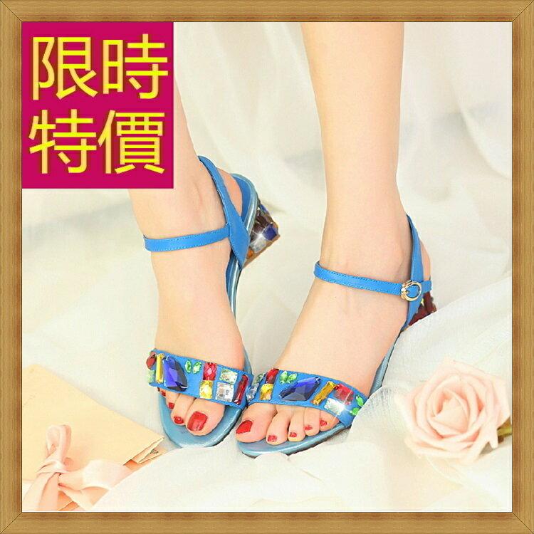 ☆高跟涼鞋  女鞋子-夏季氣質精美水鑽女休閒鞋3色55l26【韓國進口】【米蘭精品】 0