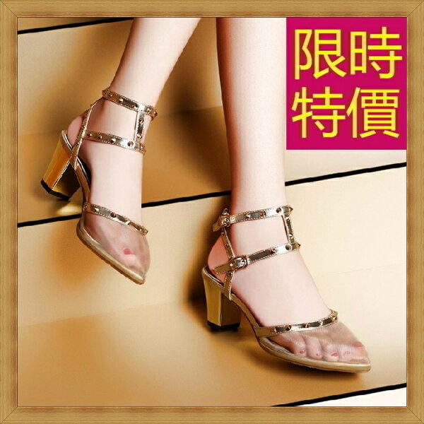 ☆高跟涼鞋 女鞋子-夏季氣質精美水鑽女休閒鞋2色55l44【韓國進口】【米蘭精品】