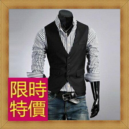 西裝背心 男西服-韓版時尚修身男馬甲2色57h11【韓國進口】【米蘭精品】