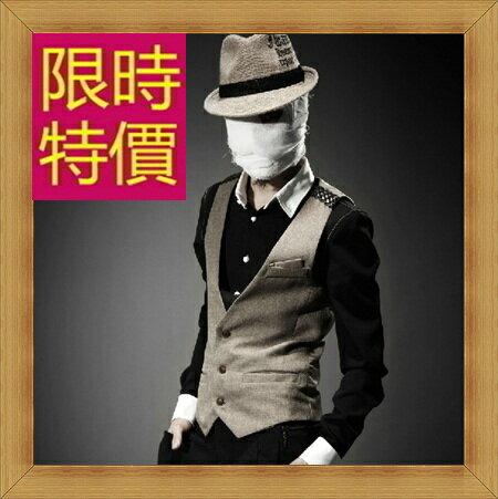 西裝背心 男西服-韓版時尚修身男馬甲2色57h2【韓國進口】【米蘭精品】