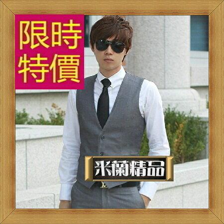 西裝背心 男西服-韓版時尚修身男馬甲2色3款57h6【韓國進口】【米蘭精品】
