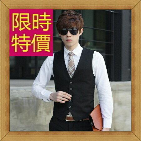 西裝背心 男西服-韓版時尚修身男馬甲2款57h8【韓國進口】【米蘭精品】