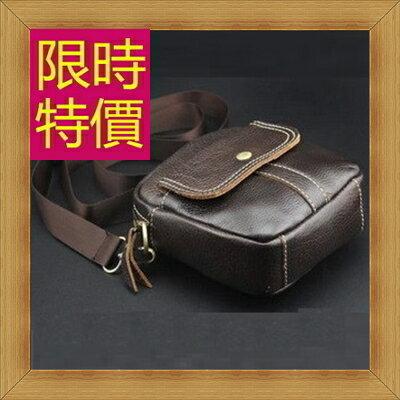 腰包 真皮側背包-經典實用復古男包包3色58c11【義大利進口】【米蘭精品】
