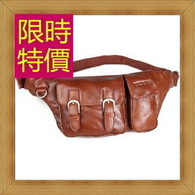 腰包 真皮側背包-經典實用復古男包包2色58c13【義大利進口】【米蘭精品】