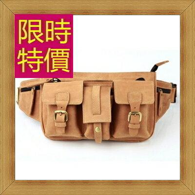 腰包 真皮側背包-經典實用復古男包包58c14【義大利進口】【米蘭精品】