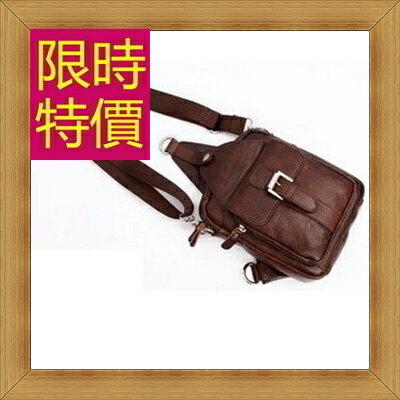 腰包 真皮側背包-經典實用復古男包包4色58c16【義大利進口】【米蘭精品】