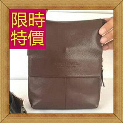 腰包 真皮側背包-經典實用復古男包包2色(大款)58c22【義大利進口】【米蘭精品】
