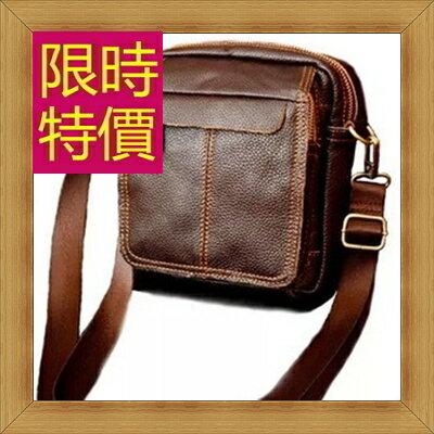 腰包 真皮側背包-經典實用復古男包包2色58c23【義大利進口】【米蘭精品】