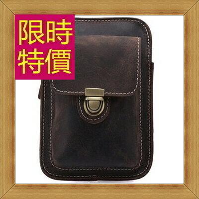 腰包 真皮側背包-經典實用復古男包包2色58c3【義大利進口】【米蘭精品】