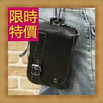 腰包 真皮側背包-經典實用復古男包包58c30【義大利進口】【米蘭精品】