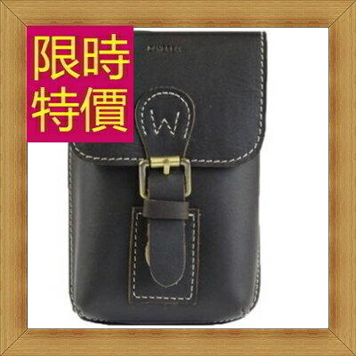 腰包 真皮側背包-經典實用復古男包包58c9【義大利進口】【米蘭精品】
