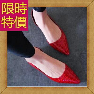 ★平底鞋 真皮女鞋子-時尚氣質通勤女尖頭鞋2色58l81【韓國進口】【米蘭精品】 2